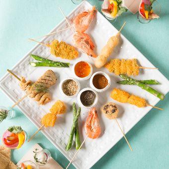 Hidangan Perancis berpadu dengan Kushi khas Jepang.