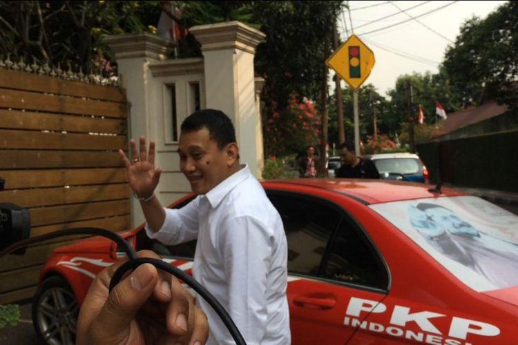 Sekretaris Jenderal Partai Kebangkitan Bangsa (PKB) Abdul Kadir Karding saat ditemui di Posko Cemara 19, Menteng, Jakarta Pusat.