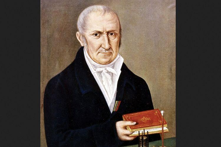 Lukisan sosok Alessandro Volta, fisikawan Italia penemu baterai modern.