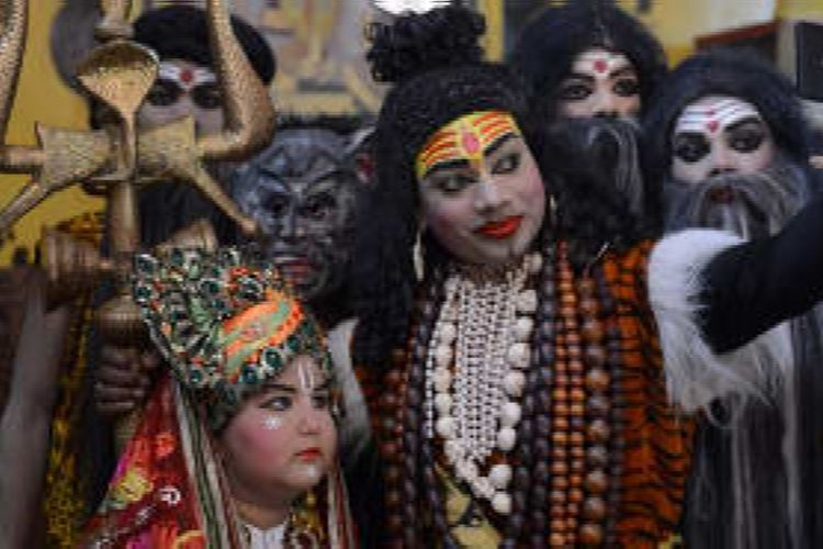 Perayaan Holi di India.