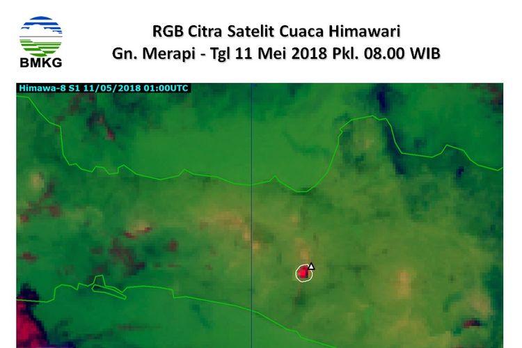 Citra satelit Gunung Merapi, Jumat (11/05/2018)