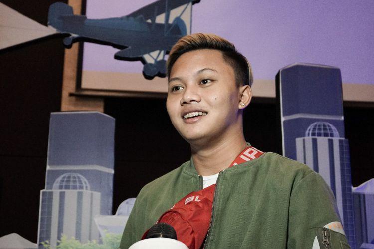 Penyanyi Rizky Febian saat ditemui dalam jumpa pers Indonesian Idol Junior 2018 di MNC Studios, Kebon Jeruk, Jakarta Barat, Selasa (28/8/2018).