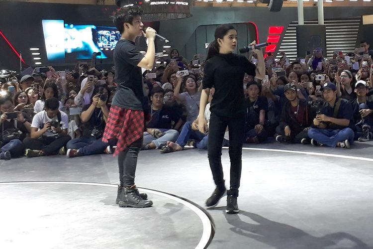 Penampilan Ranz-Niana, Youtuber dan selebgram asal Filipina yang punya keahlian nge-dance di booth Toyota.