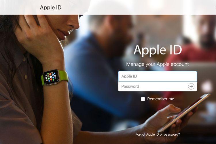 Halaman Apple ID di situs Apple