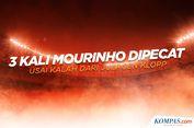 INFOGRAFIK: Tiga Kali Mourinho Dipecat Usai Kalah dari Juergen Klopp