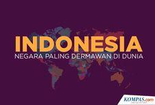 INFOGRAFIK: Indonesia Jadi Negara dengan Penduduk Paling Dermawan