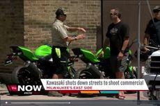 Generasi Baru Kawasaki Ninja 400 Terekam Saat Pembuatan Iklan