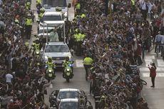 Lambaian Sapu Tangan Putih Sambut Paus Fransiskus di Bogota