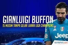 INFOGRAFIK: 15 Musim, Buffon Tak Pernah Raih Juara Liga Champions