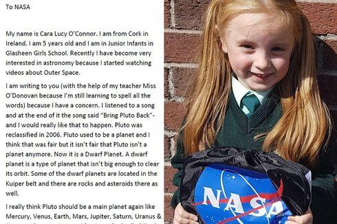 NASA Balas Surat Anak 6 Tahun yang Ingin Pluto Jadi Planet Lagi