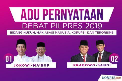 INFOGRAFIK: Adu Pernyataan dalam Debat Pilpres 2019