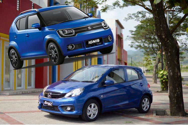 Suzuki Ignis dan Honda Brio, penguasa pasar city car di Indonesia.