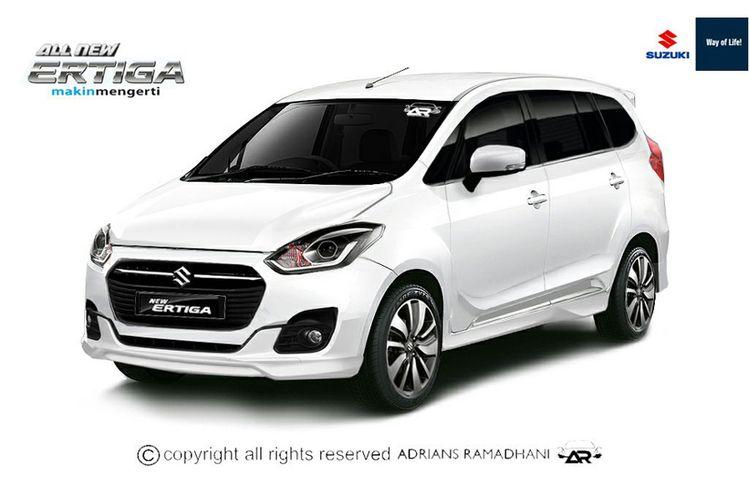 Rekayasa digital wajah baru Suzuki Ertiga.