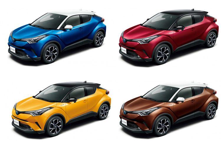 Toyota C-HR dijual dengan opsi dua warna di Jepang.