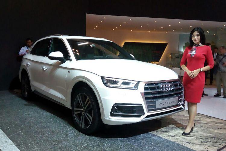 Audi Q5 generasi kedua saat dipamerkan di GIIAS 2017.