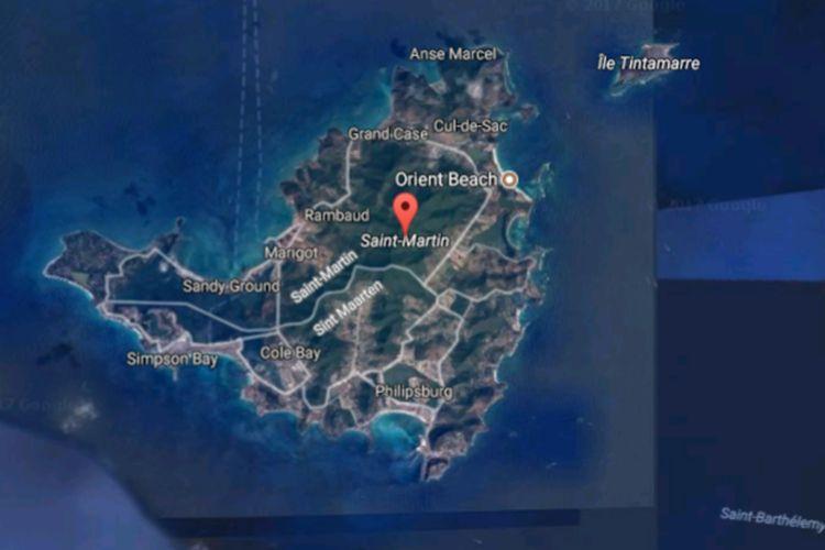 Pulau Saint Martin di Karibia