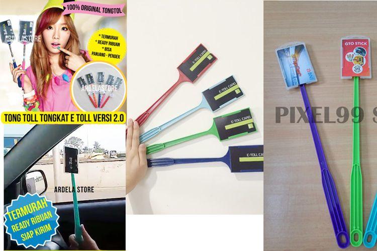 Ragam tongtoll yang dijual di toko online.