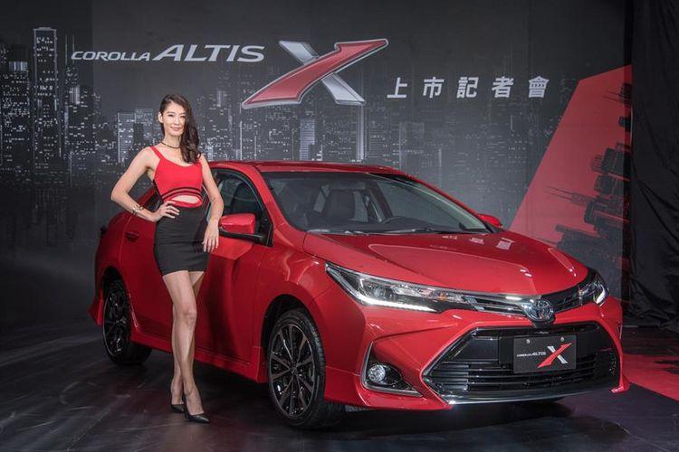 Toyota Corolla Altis X meluncur di Taiwan dengan tampang yang lebih sporty.