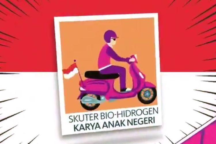 Konten video yang diunggah akun @lipiindonesia ke Twitter tentang skuter hidrogen buatan Lembaga Ilmu Pengetahuan Indonesia (LIPI).