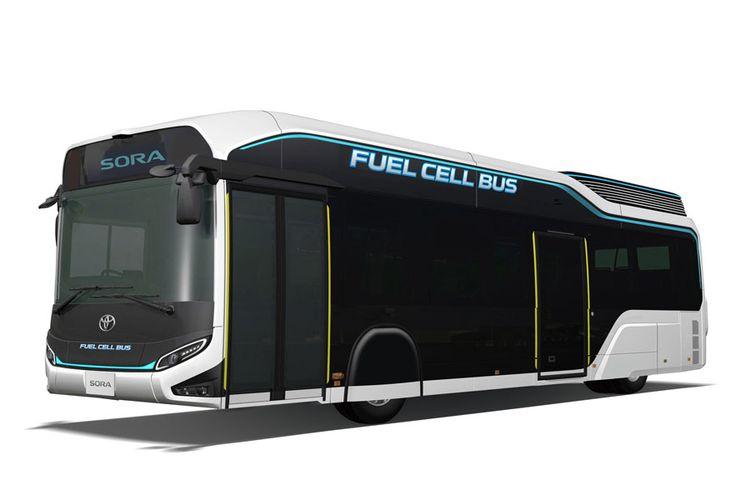 Model konsep fuel-cell bus Toyota Sora.