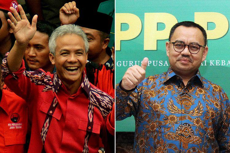 Ganjar Pranowo (kiri) dan Sudirman Said
