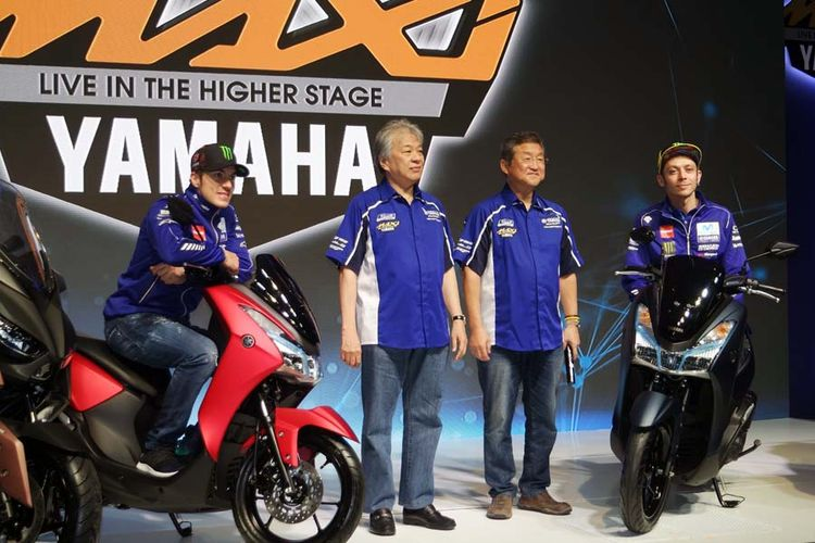 Yamaha Lexi 125 diluncurkan di Jakarta, Jumat (26/1/2018).