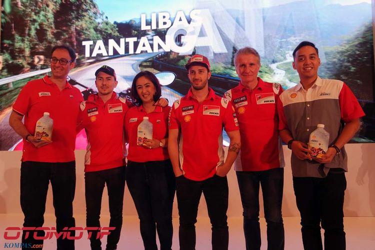 Jorge Lorenzo dan Andrea Dovizioso datang ke Jakarta atas undangan Shell Indonesia.