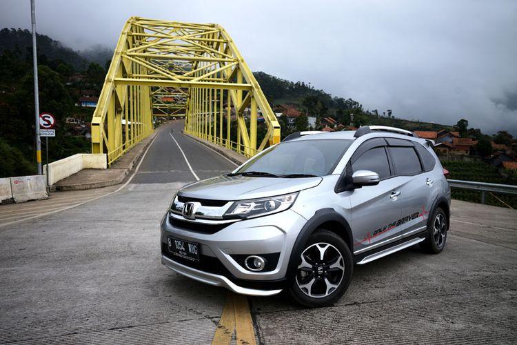 Honda BR-V dibawa ke kawasan Kamojang, Garut, Jawa Barat.