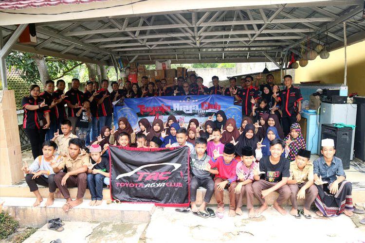 Salah satu kegiatan touring ke Lampung yang dilakukan Toyota Agya Club pada 23 ? 25 Februari lalu.