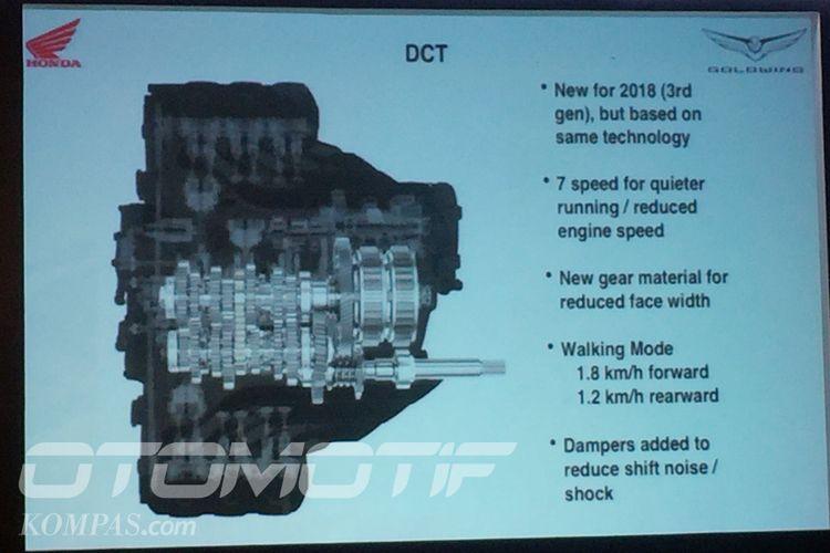 Di Indonesia, Honda Gold Wing 2018 ditawarkan hanya dengan opsi DCT.