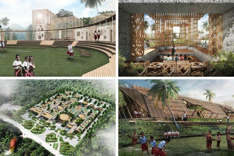 Ilustrasi sebagian maket dari karya 11 Arsitek di Pameran In Between Boundaries 2018 di Venesia, Italia.