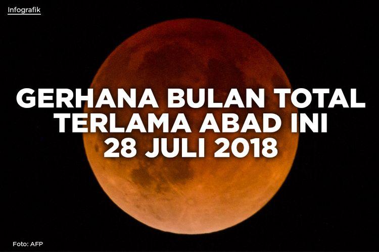 GERHANA BULAN TOTAL TERLAMA ABAD INI 28 JULI 2018