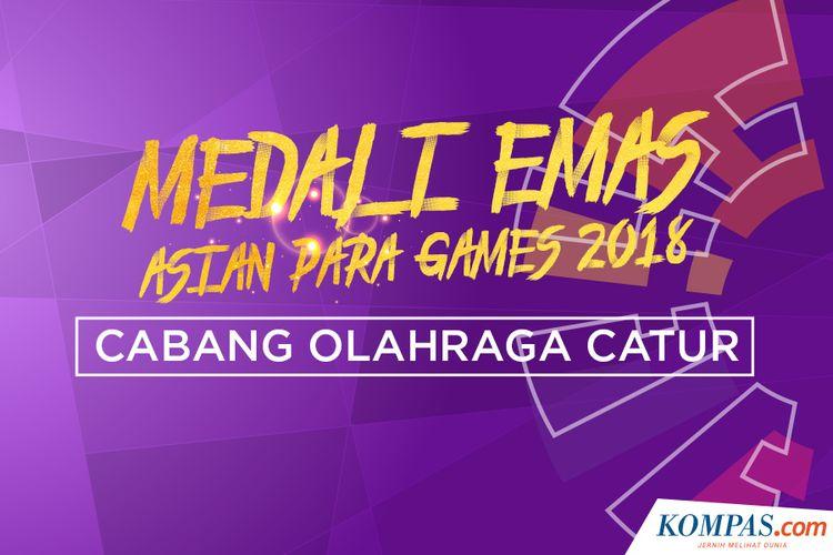 Peraih medali Asian Para Games 2018 cabang olahraga catur