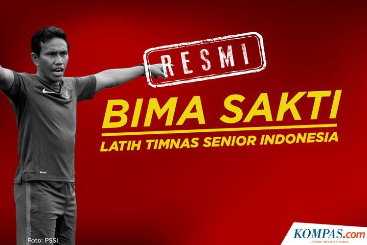 Resmi Bima Sakti latih Timnas Senior Indonesia
