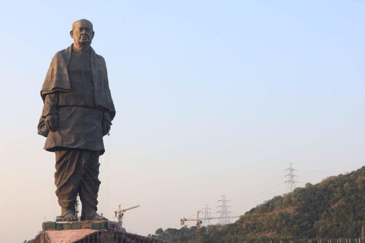 Statue of Unity, patung pahlawan kemerdekaan India Sardar Vallabhbhai Patel diresmikan pada Rabu (31/10/2018). (Twitter/Narendra Modi)