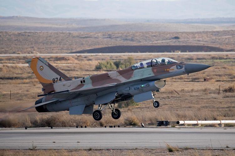 Jet tempur F-16 milik Angkatan Udara Israel yang akan dibeli oleh Kroasia.