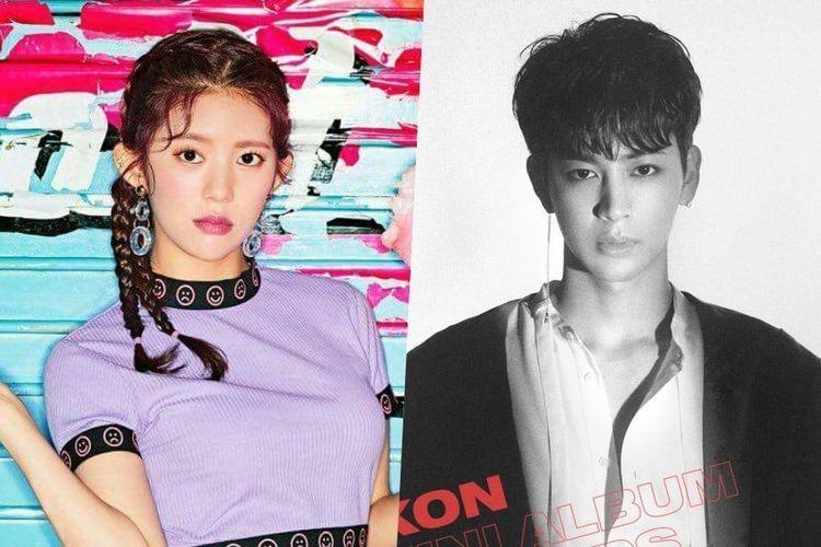 Daisy MOMOLAND dan Yunhyeong iKON yang tengah dikabarkan berpacaran.