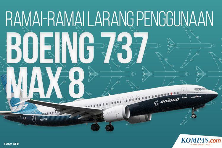 Ramai-ramai Larang Penggunaan Boeing 737 Max 8