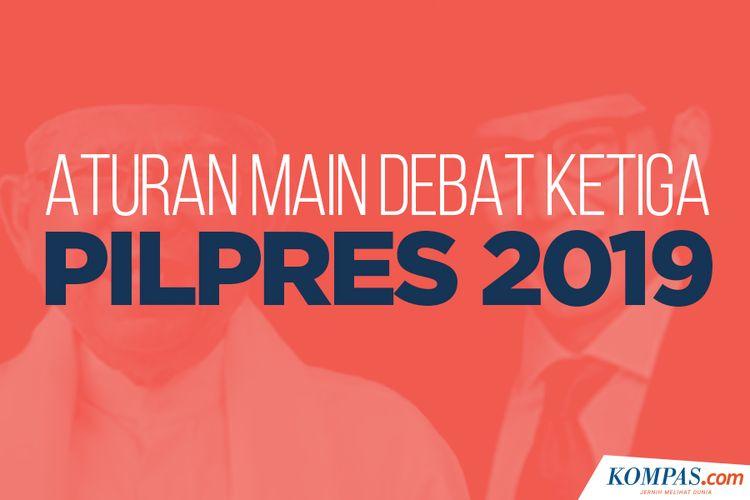 Aturan Main Debat Ketiga Pilpres 2019