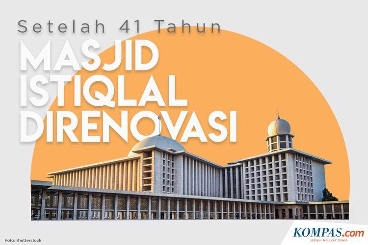 Setelah 41 Tahun, Masjid Istiqlal Direnovasi