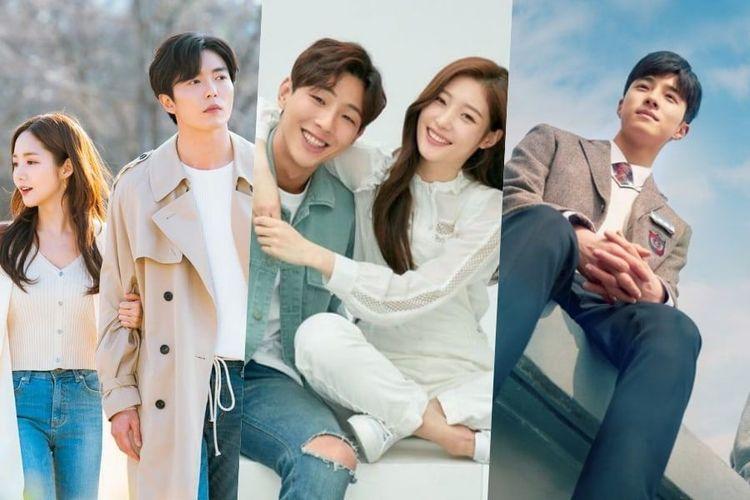 Beberapa potongan poster drama Korea populer tahun ini.