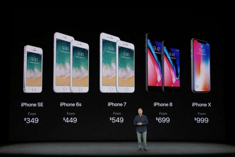 Harga baru seri iPhone, setelah Apple merilis iPhone 8 dan iPhone X.