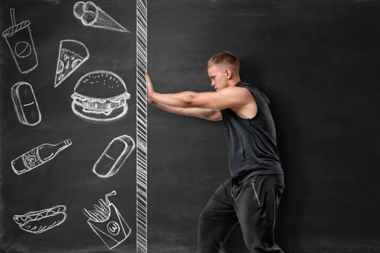 Ilustrasi gaya hidup sehat menghindari junk food