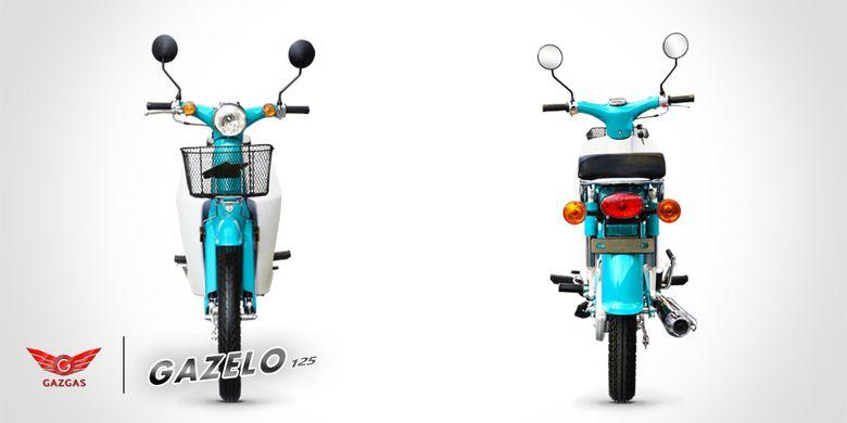 Gazelo 125 produksi Gazgas Indonesia. Bentuknya sangat mirip dengan Honda C70.