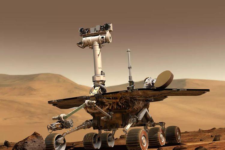 Ilustrasi Opportunity di Mars