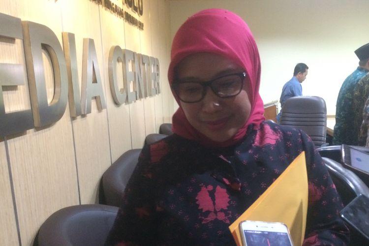 Anggota Bawaslu RI Ratna Dewi Pettalolo saat ditemui di Kantor Bawaslu, Jakarta, Senin (25/6/2018).