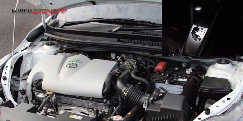 Mesin 2NR-FE dengan gearbox CVT.