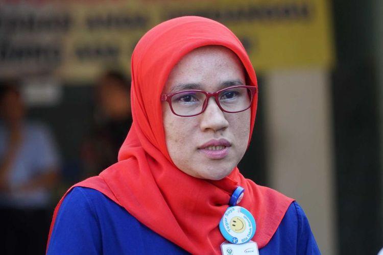 Fatriani, salah seorang di RS Cipto Mangunkusumo.