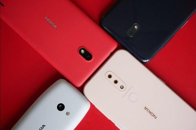 Ilustrasi 4 ponsel Nokia terbaru yang diluncurkan oleh HMD Global di MWC 2019