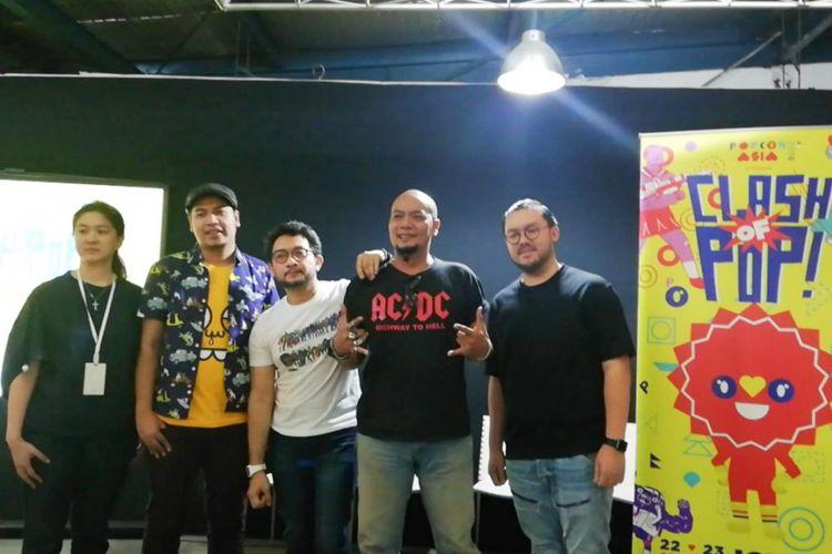 Suasana jumpa pers Popcon Asia 2018 di Electronic City, SCBD, Jakarta Selatan, Kamis (12/7/2018).